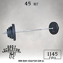 Штанга (1,5 м) + гантелі (35 см)  | 65 кг, фото 2