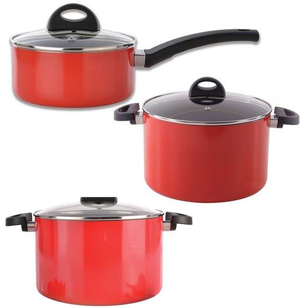 Набор посуды BergHOFF Eclipse красный 3700112-3