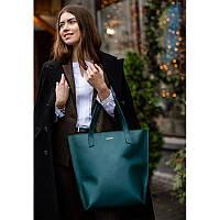 Кожаная женская сумка шоппер D.D. зеленая, фото 1