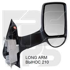 Левое зеркало Форд Транзит 06-13 ручной привод; без обогрева; выпуклое; вынос 210 / FORD TRANSIT (2006-2013)