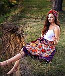 Серенада 11-15, павлопосадский платок шерстяной с шелковой бахромой, фото 7