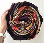 Серенада 11-15, павлопосадский платок шерстяной с шелковой бахромой, фото 9