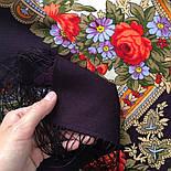 Серенада 11-15, павлопосадский платок шерстяной с шелковой бахромой, фото 3