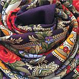 Серенада 11-15, павлопосадский платок шерстяной с шелковой бахромой, фото 8