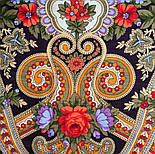 Серенада 11-15, павлопосадский платок шерстяной с шелковой бахромой, фото 6