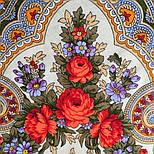 Серенада 11-15, павлопосадский платок шерстяной с шелковой бахромой, фото 5