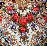 Серенада 11-15, павлопосадский платок шерстяной с шелковой бахромой, фото 4