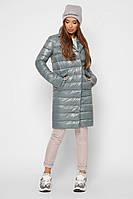 Женская трендовая стеганая куртка на запах