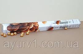 Вугільні аромапалички Мигдаль / Incense Sticks Almond / Індія / Darshan / 20 шт