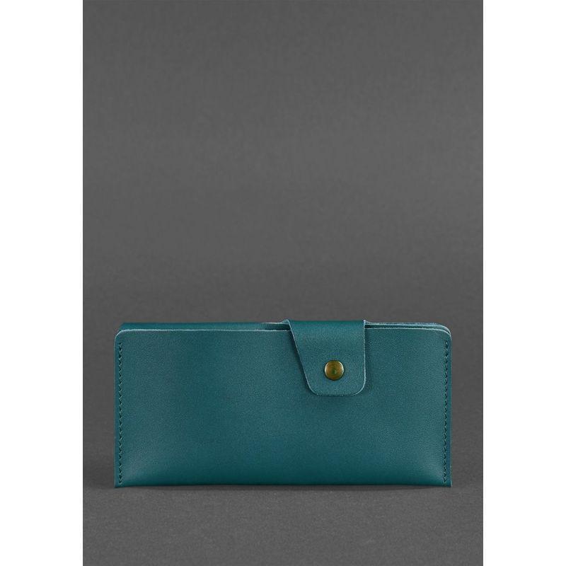 Кожаное портмоне-купюрник 8.0 зеленое