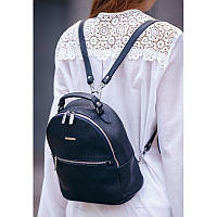 Кожаный женский Мини-рюкзак Kylie Синий, фото 1