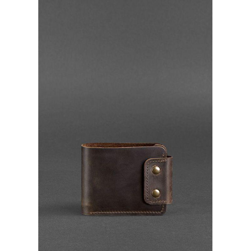 Мужское кожаное портмоне Zeus 9.0 темно-коричневое