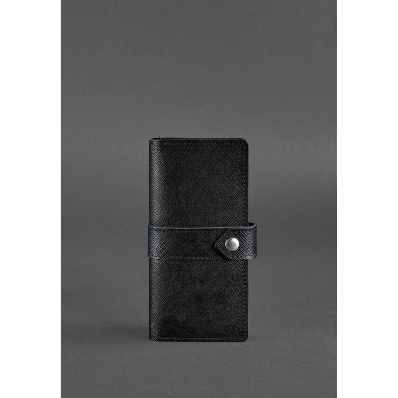 Кожаное портмоне 3.1 черное Blackwood