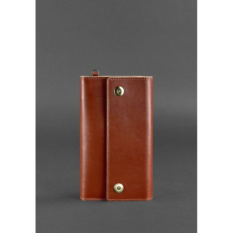 Кожаный клатч-органайзер (Тревел-кейс) 5.0 светло-коричневый