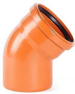 Колено ПВХ 315 /45°,  для наружной безнапорной канализации