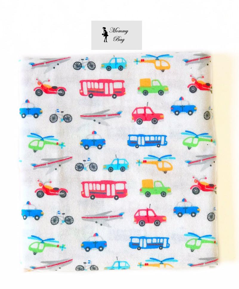 Фланелевая пеленка байковая Машинки #1