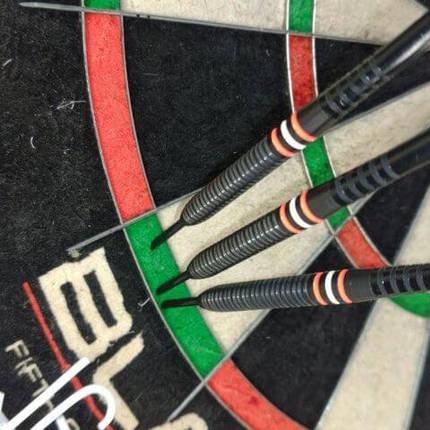 Дартс мишень сизаль New Winmau Blade5 Англия + дротики + линия для броска, фото 2