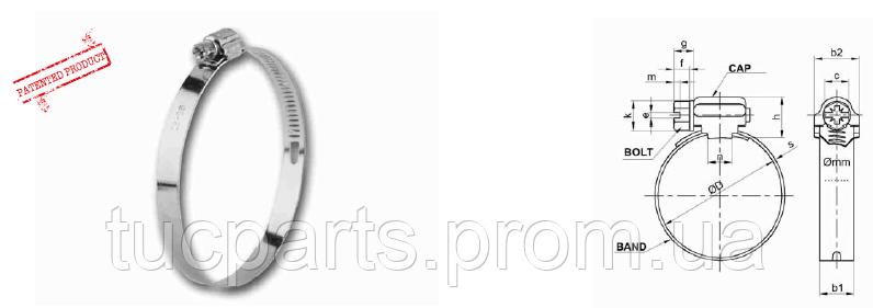 Хомут А 2 типа оцинк. Нового образца 40-60  в пачке 50шт