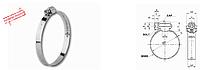 Хомут А 2 типа оцинк. Нового образца 32-50  в пачке 50шт