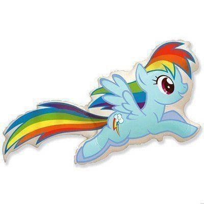 Фольгированный шар ФМ Пони радуга голубой