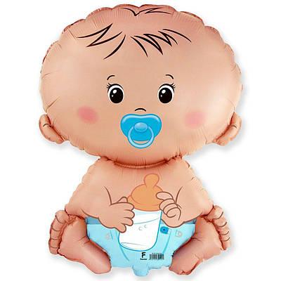 Фольгированный шар ФМ Малыш мальчик
