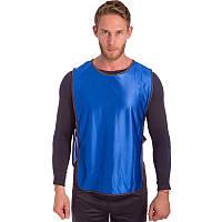 Манишка-накидка футбольная на резинке, PL, р-р XL-66х44+20см., синий (CO-4000-(bl))