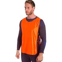 Манишка-накидка футбольная на резинке, PL, р-р XL-66х44+20см., оранжевый (CO-4000-(or))