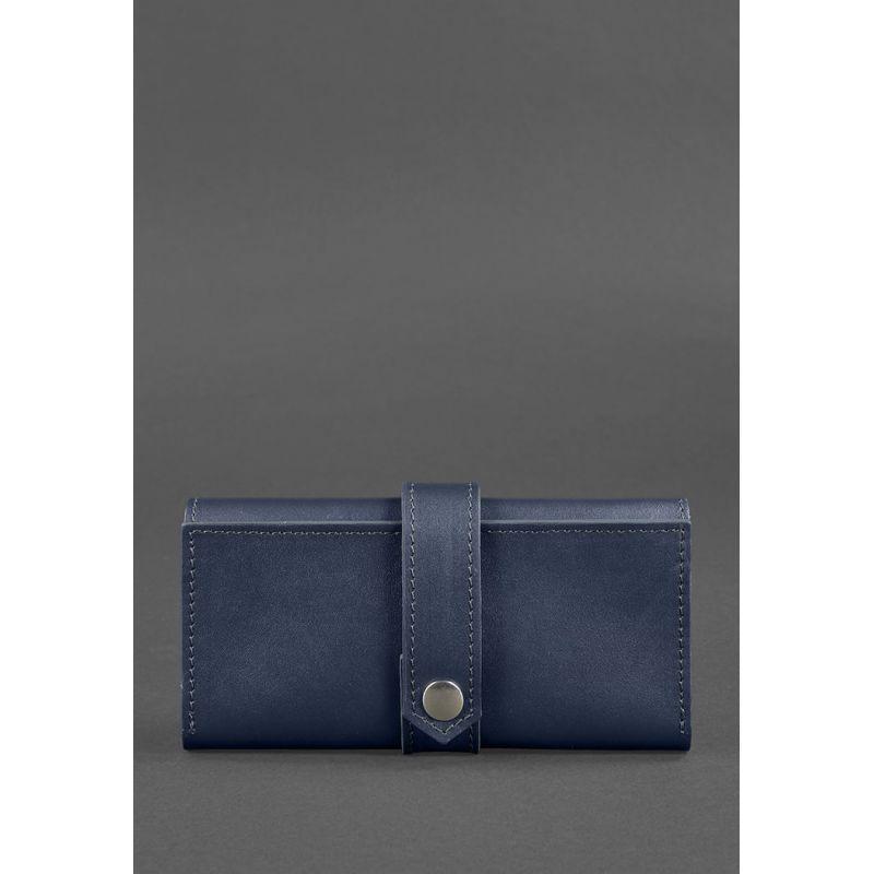 Кожаное портмоне 3.0 темно-синее