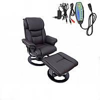 Массажное офисное кресло с подножником Bonro 5099 Brown до 120 кг