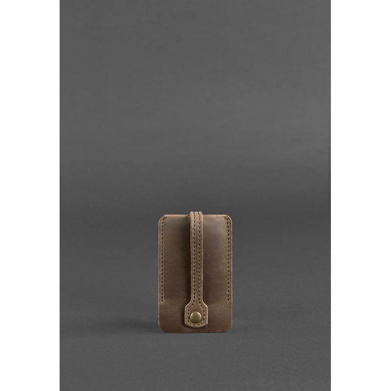 Кожаная ключница 1.0 темно-коричневая