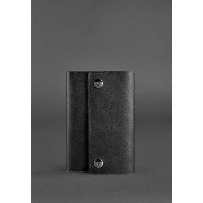 Кожаный блокнот (Софт-бук) 5.0 черный