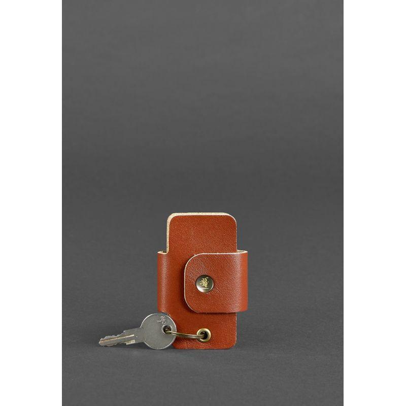 Кожаная ключница смарт-кейс 4.0 светло-коричневая