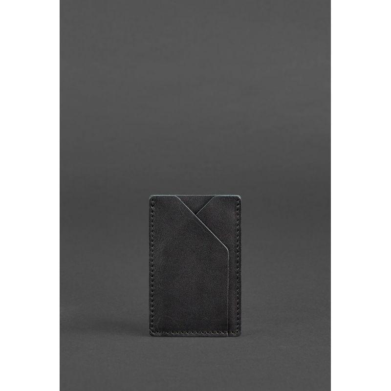 Кожаный кард-кейс 8.0 черный