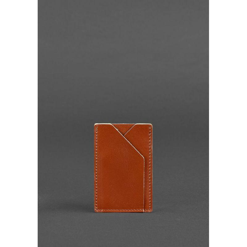 Кожаный кард-кейс 8.0 светло-коричневый