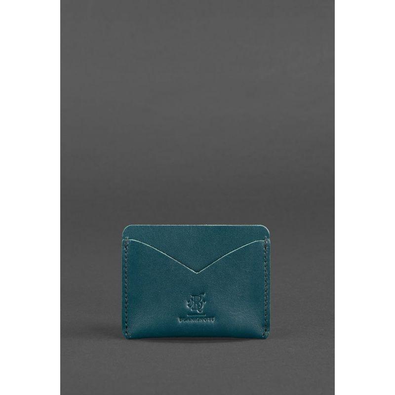 Женский кожаный кейс-слим 5.0 зеленая