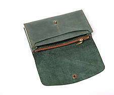 Кожаный клатч Proza женский Зеленый, фото 2