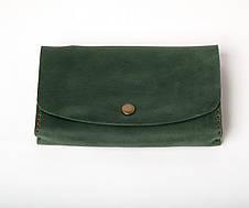 Кожаный клатч Proza женский Зеленый, фото 3
