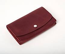 Шкіряний клатч «Proza Marsala» (2 card) жіночий Бордовий (17x10 см) ручної роботи