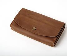 Шкіряний клатч «Proza Olive» (2 card) жіночий Оливковий (17x10 см) ручної роботи