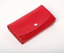 Кожаный клатч «Proza Red» (2 card) женский Красный (17x10 см) ручной работы