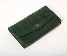 Кожаный клатч Nice женский Зеленый