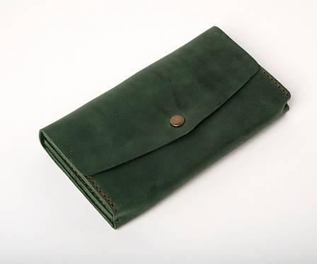 Кожаный клатч Nice женский Зеленый, фото 2