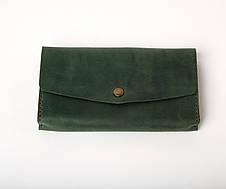 Кожаный клатч Nice женский Зеленый, фото 3