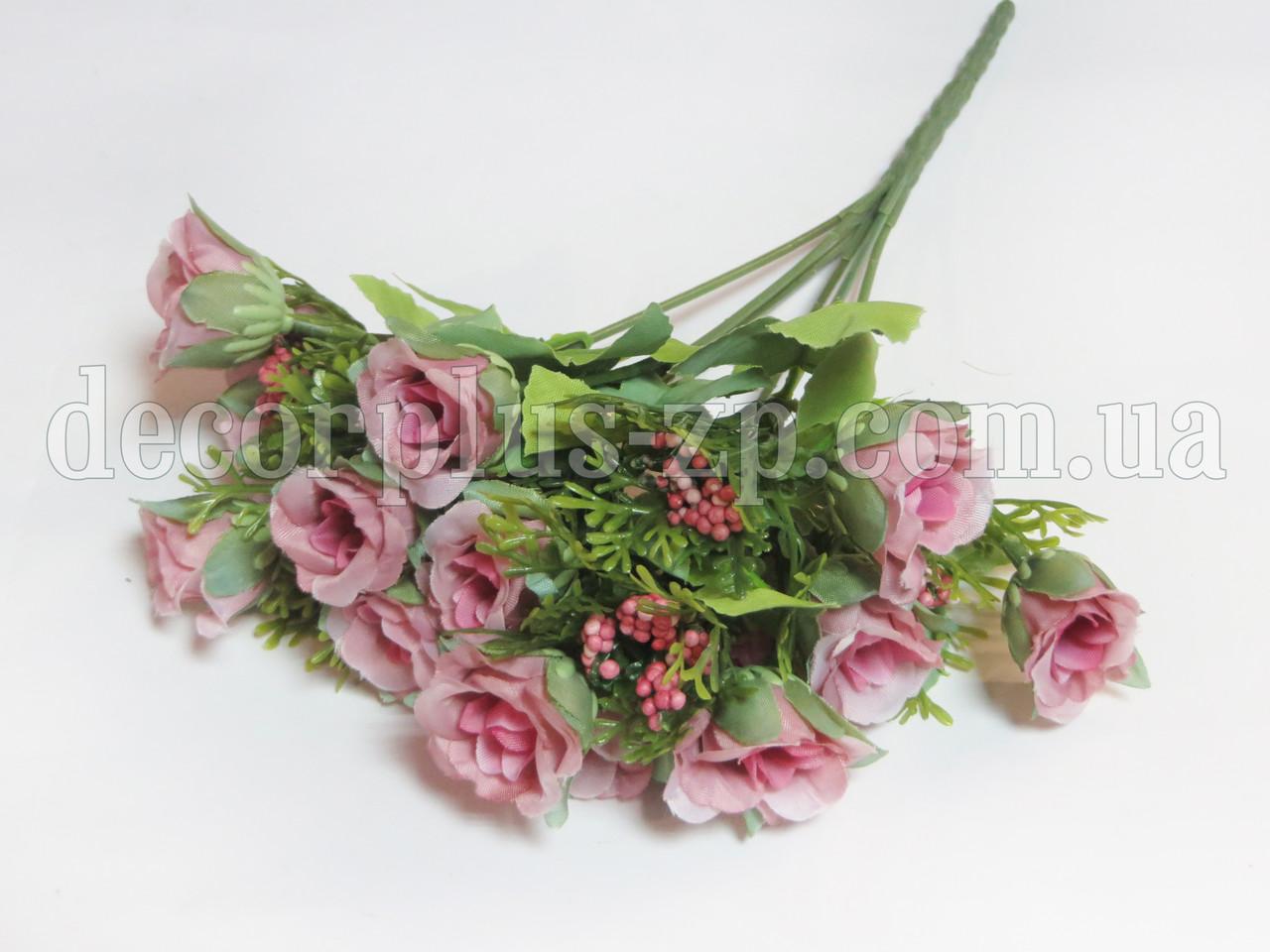 Букет мелких розочек, розовый пепел