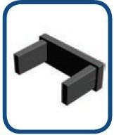 Заглушка на алюминиевый карниз узкая
