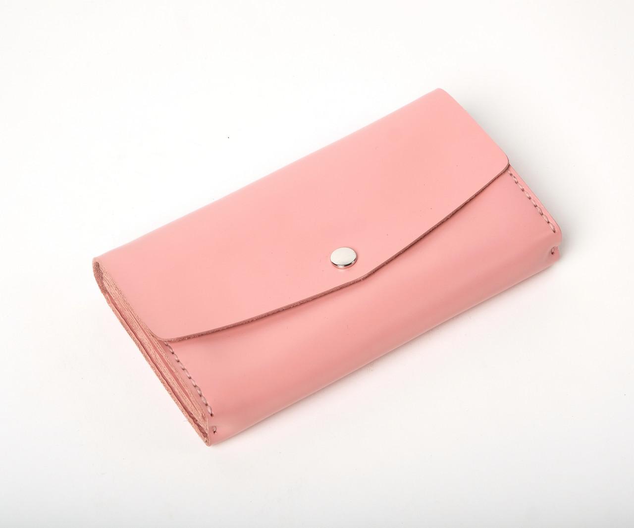 Кожаный клатч Nice женский Розовый