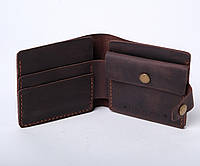 Кожаный кошелек «Gazda Brown» мужской Коричневый (11x9,5 см) ручной работы