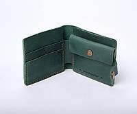 Кожаный кошелек Gazda унисекс Зеленый