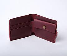 Шкіряний гаманець Gazda жіночий Бордовий