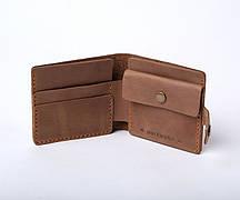 Шкіряний гаманець «Gazda Olive» жіночий Оливковий (11x9,5 см) ручної роботи